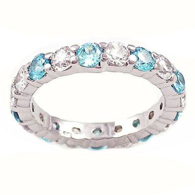 Celebration Ring in Aquamarine Blue