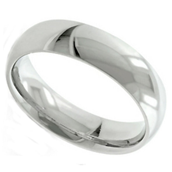 8mm Sterling Silver Band