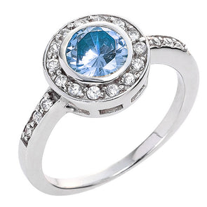 Circlet Ring in Aquamarine Blue