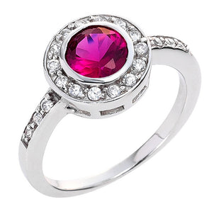 Circlet Ring in Ruby Red