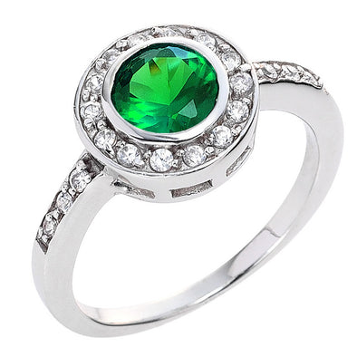 Circlet Ring in Emerald Green