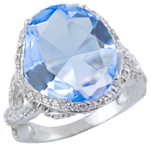 Barbados Blue Cocktail Ring
