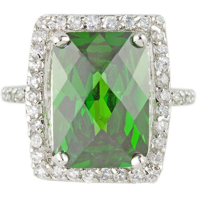 Beckham Cocktail Ring in Emerald Green