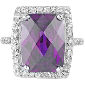 Beckham Cocktail Ring in Amethyst