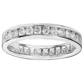 Round Cut Channel Set Ring