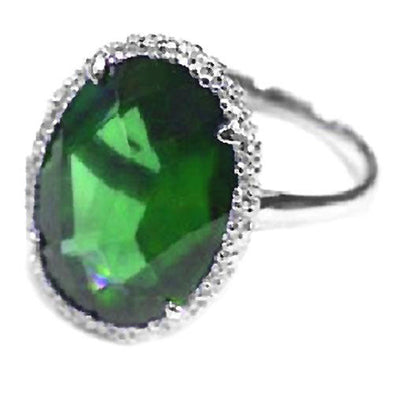 Ella Ring in Emerald Green