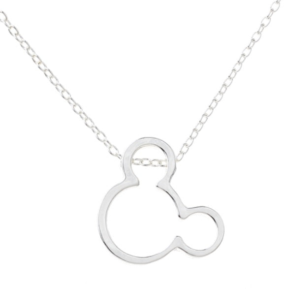 Silver Mickey Mouse Necklace