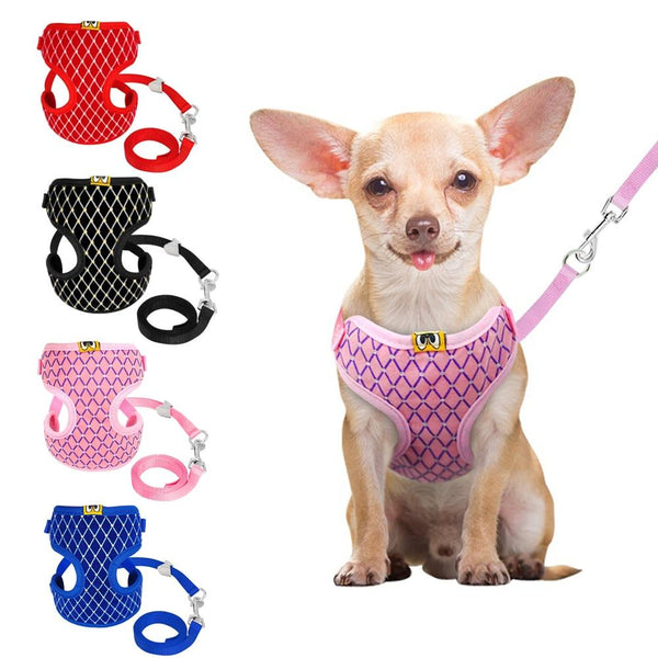 Breathable Harness set Dog supplies PUGYOU