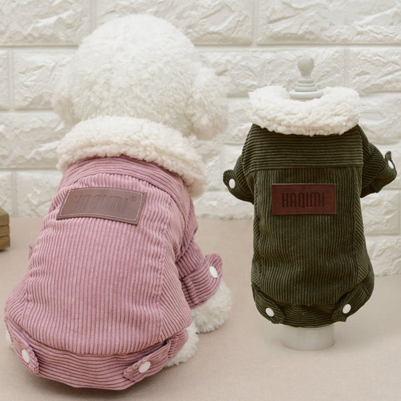 Corduroy Dog Coat Dog Clothes PUGYOU