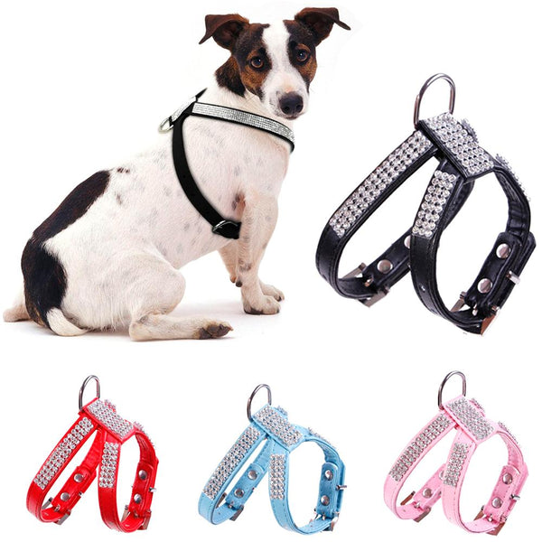 Leather Dog Harness Dog supplies PUGYOU