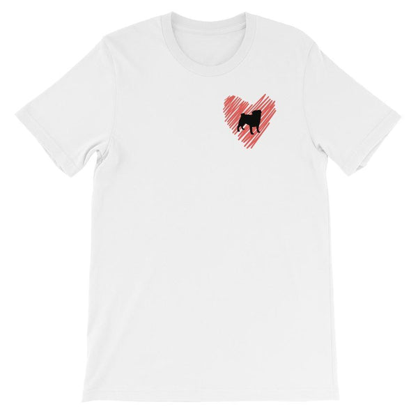 Pug at heart ~ Short-Sleeve Unisex T-Shirt Clothes PUGYOU