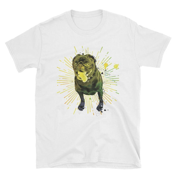 Pug color explosion ~ Short-Sleeve Unisex T-Shirt Clothes PUGYOU
