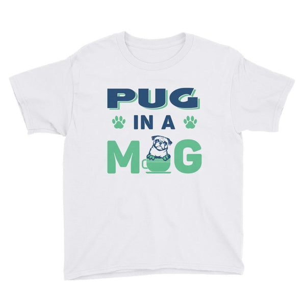 Pug in a mug ~ Youth Short Sleeve T-Shirt Clothes PUGYOU