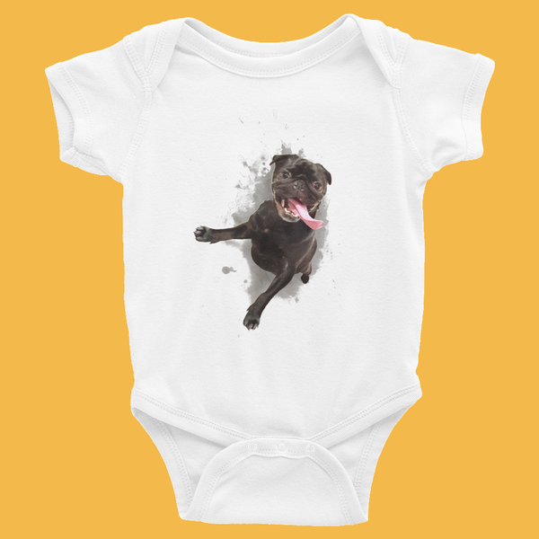 Pugged you ~ Infant Bodysuit 6-24M Clothes PUGYOU