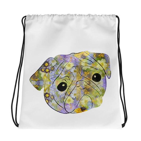 Pug's Blossom ~ Drawstring bag-Accessories-Pug You