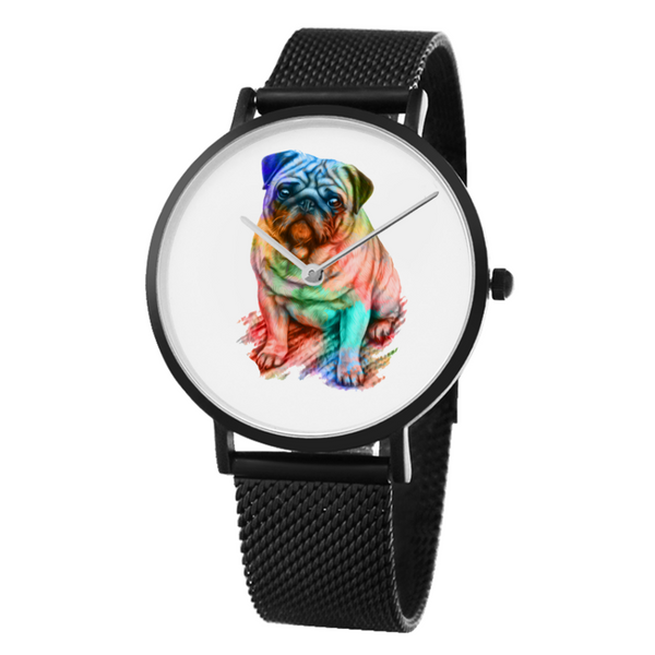 Rainbow Puggy ~ Watch-Accessories-Pug You
