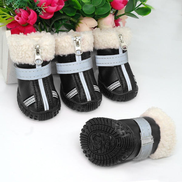 Reflective Snow booties-Dog apparel-Pug You