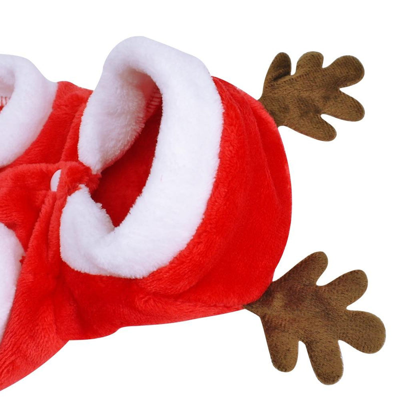 Santa's Little Helper - Christmas Dog Costume-Dog Clothes-Pug You