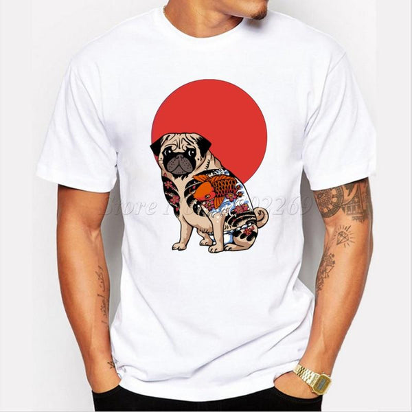 Yakuza Pug ~ Casual T-Shirt-Clothes-Pug You