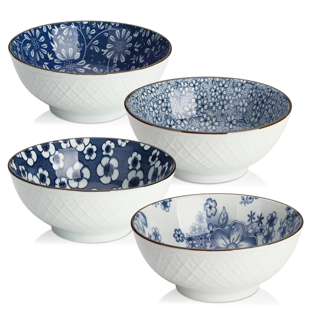 DOWAN® 16oz Japanese Design Bowls, 4pc