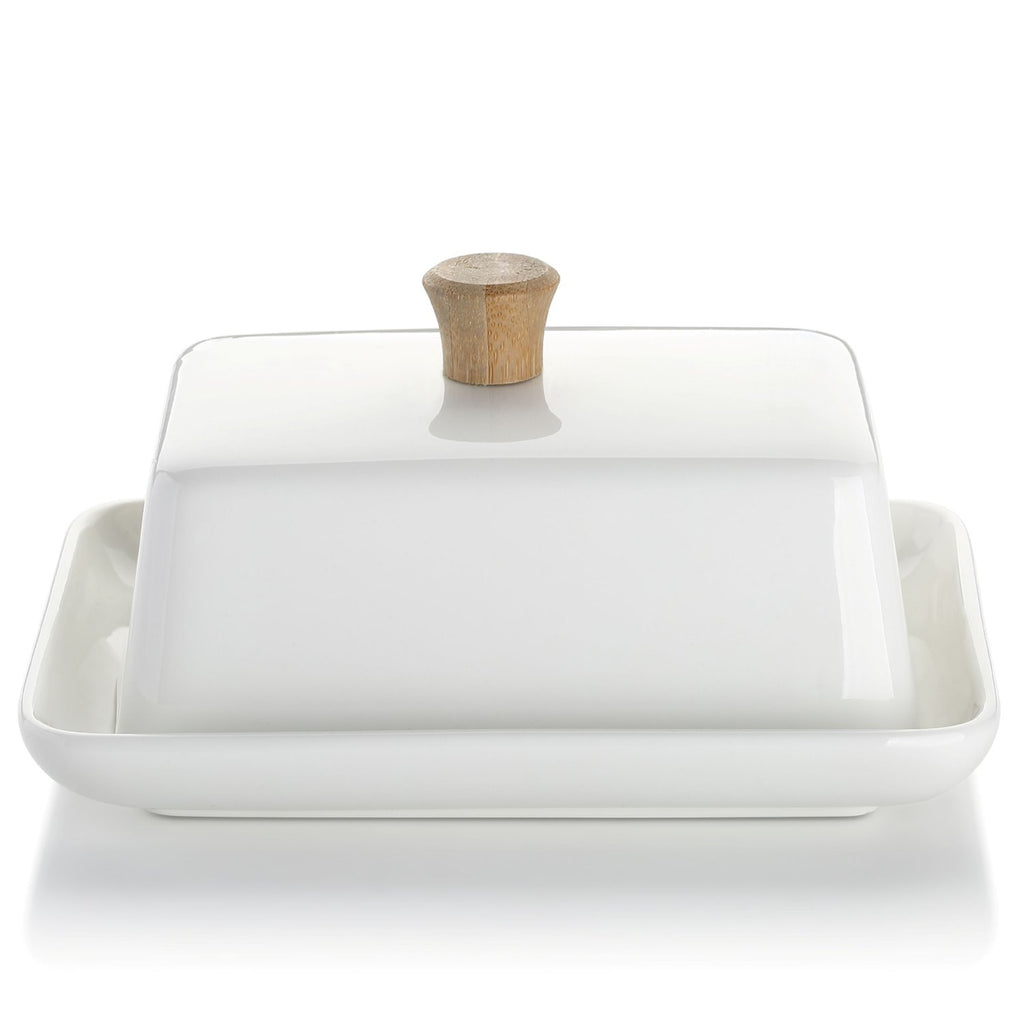 Porcelain Butter Dish with Lid-European Style
