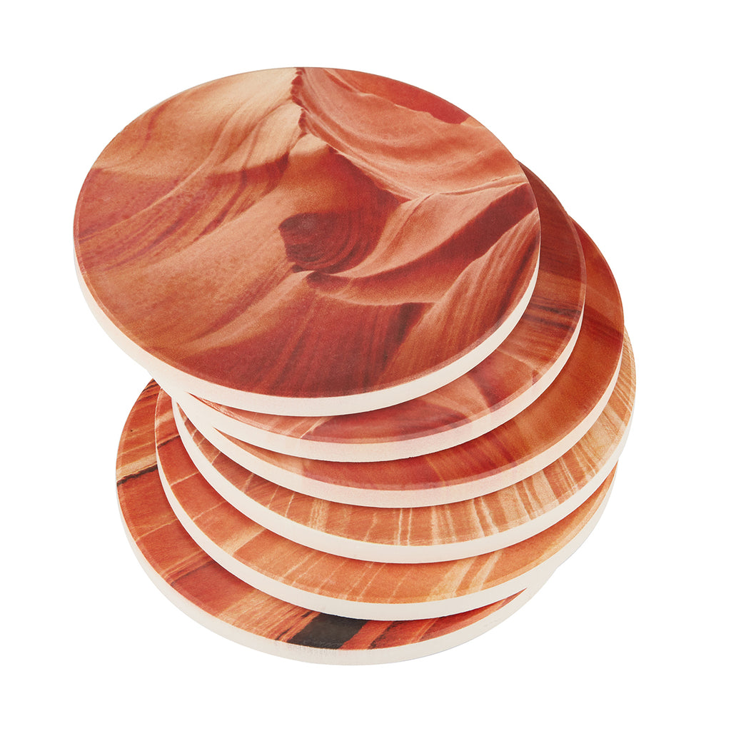 Multicolor Absorbent Coasters Set of 6