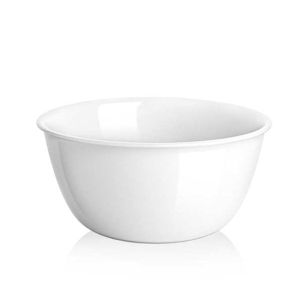 DOWAN 26-Ounce White Porcelain  Cereal Bowl, Super Soup Bowls, Set of 6