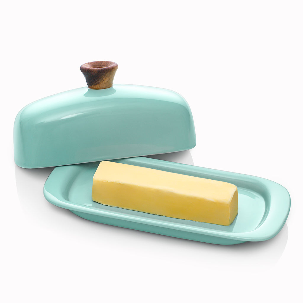 DOWAN 8 inches Turquoise Butter Keeper for East-West Coast Butters