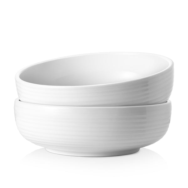 DOWAN 2.5-Quart Ceramic thick wall Serving Bowls for Salad, Pasta, Set of 2