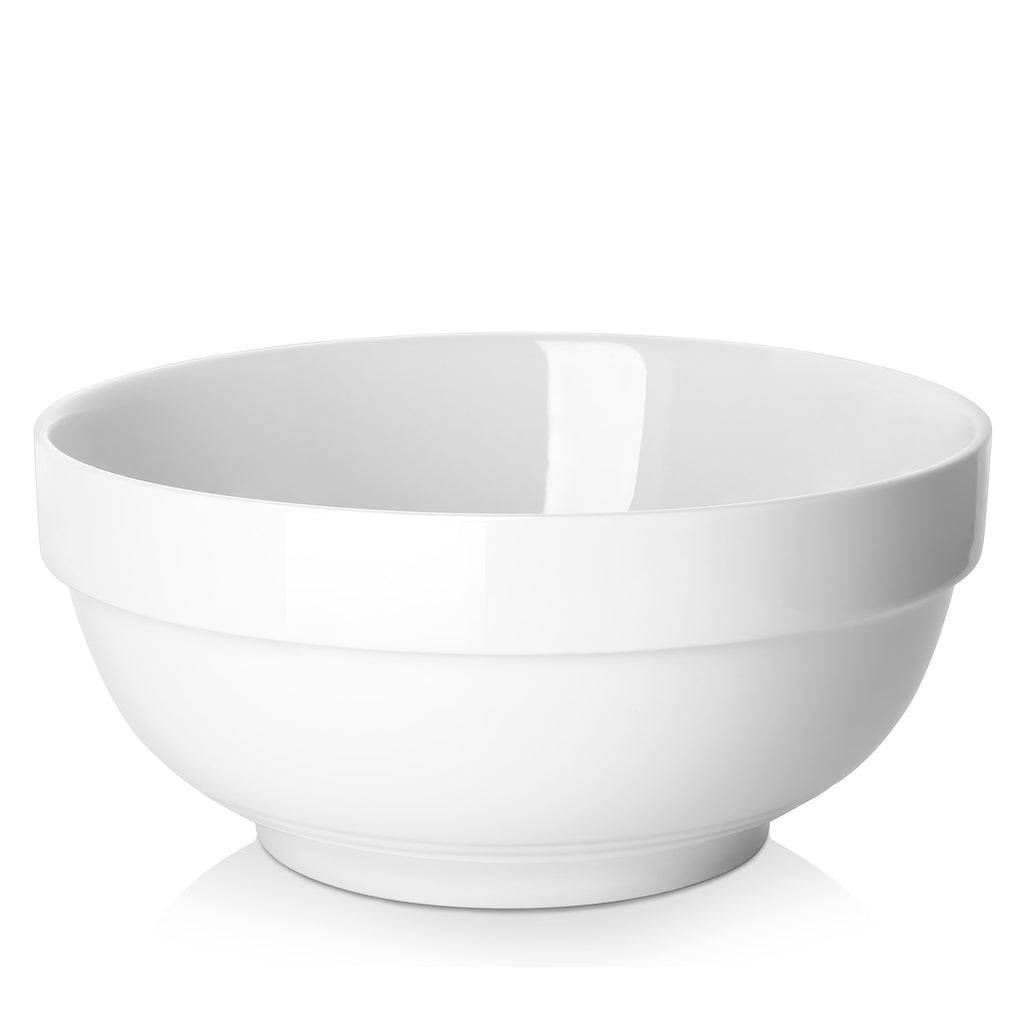DOWAN 2.5-Quart Anti-slipping Stackable Porcelain Serving Bowls, Set of 2