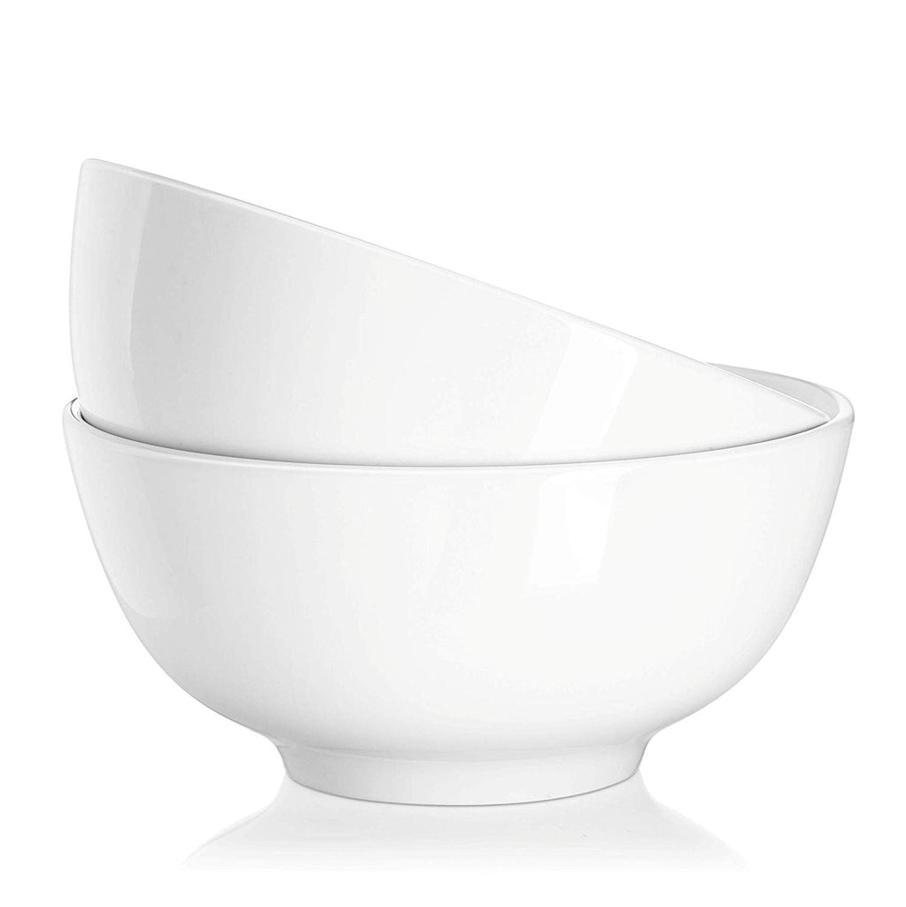 DOWAN 10-Ounce White Porcelain Bowl, Set of 2
