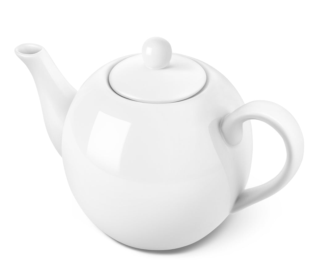 DOWAN 40-Ounce Porcelain Teapot Large Enough for 5 Cups, Set of 1