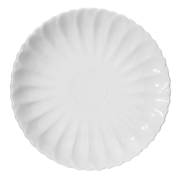 DOWAN® 4 Packs 11-1/2 Inch Porcelain Dinner Plates, White