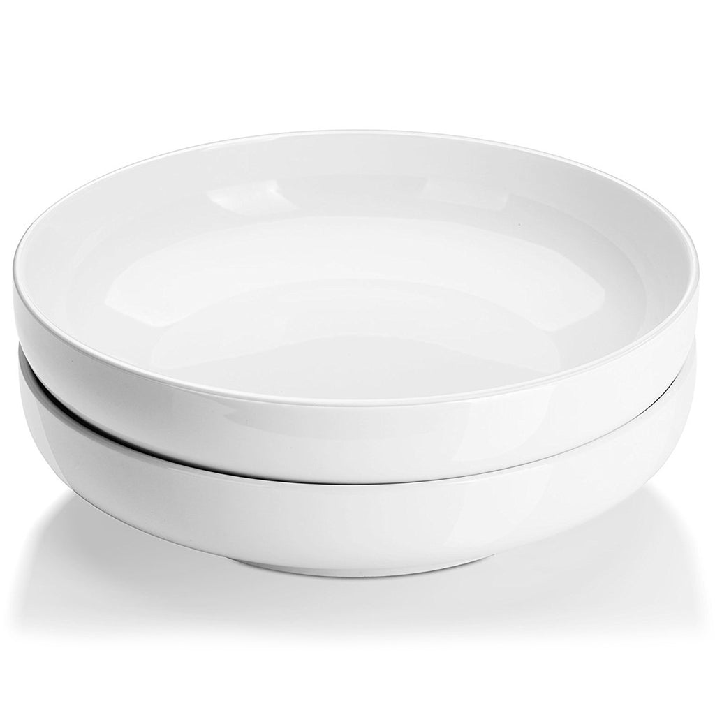 DOWAN® 10 Inch Shallow Salad Serving Bowls are easy to stack