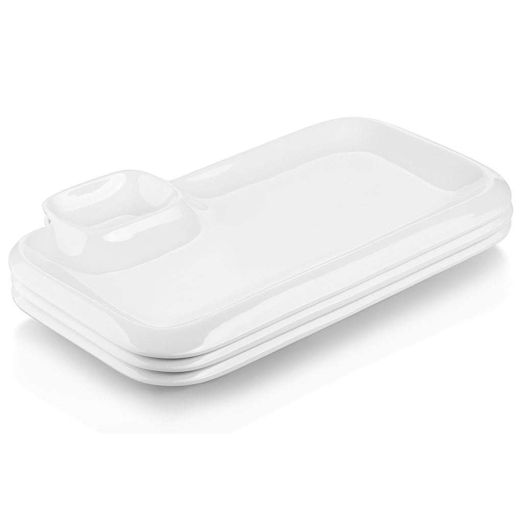 DOWAN® 12-inch Porcelain Serving Platters side view