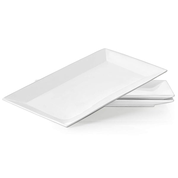 DOWAN® 14-inch Porcelain Serving Plates - 3 Packs
