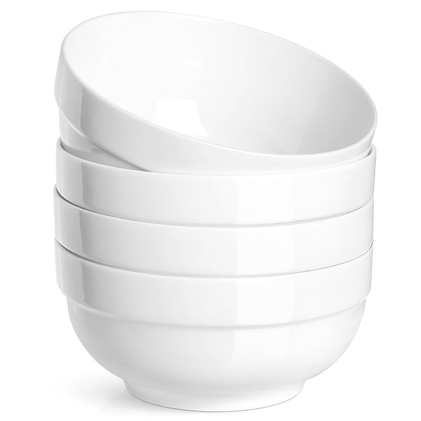 DOWAN 22 oz. Porcelain Soup/Cereal Bowls with Rim