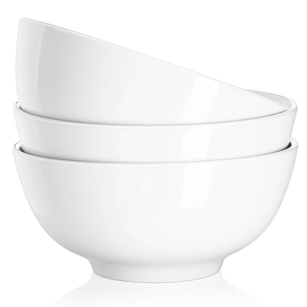 DOWAN® 29 Ounce Porcelain Soup Bowls - 3 Packs, Stackable