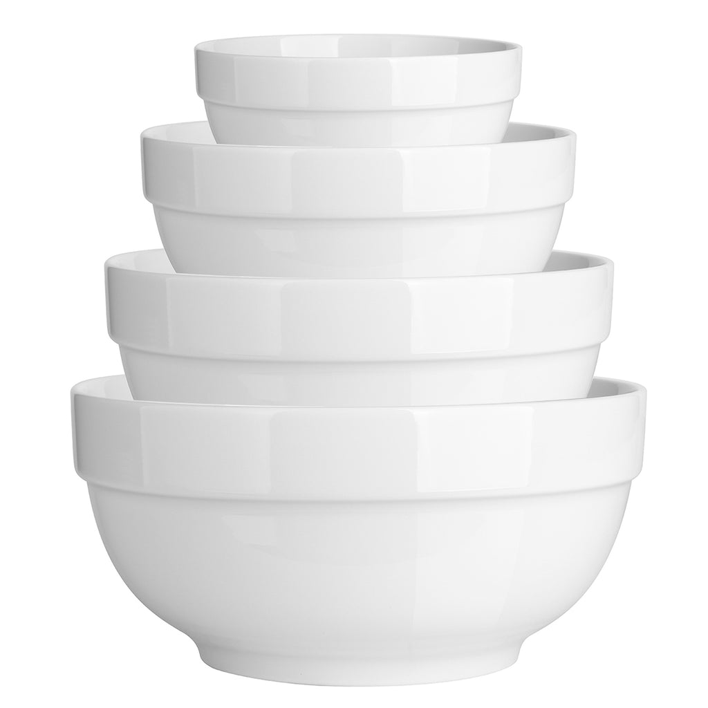 DOWAN® 4-Piece Porcelain Serving Bowl Set, Nesting Bowls