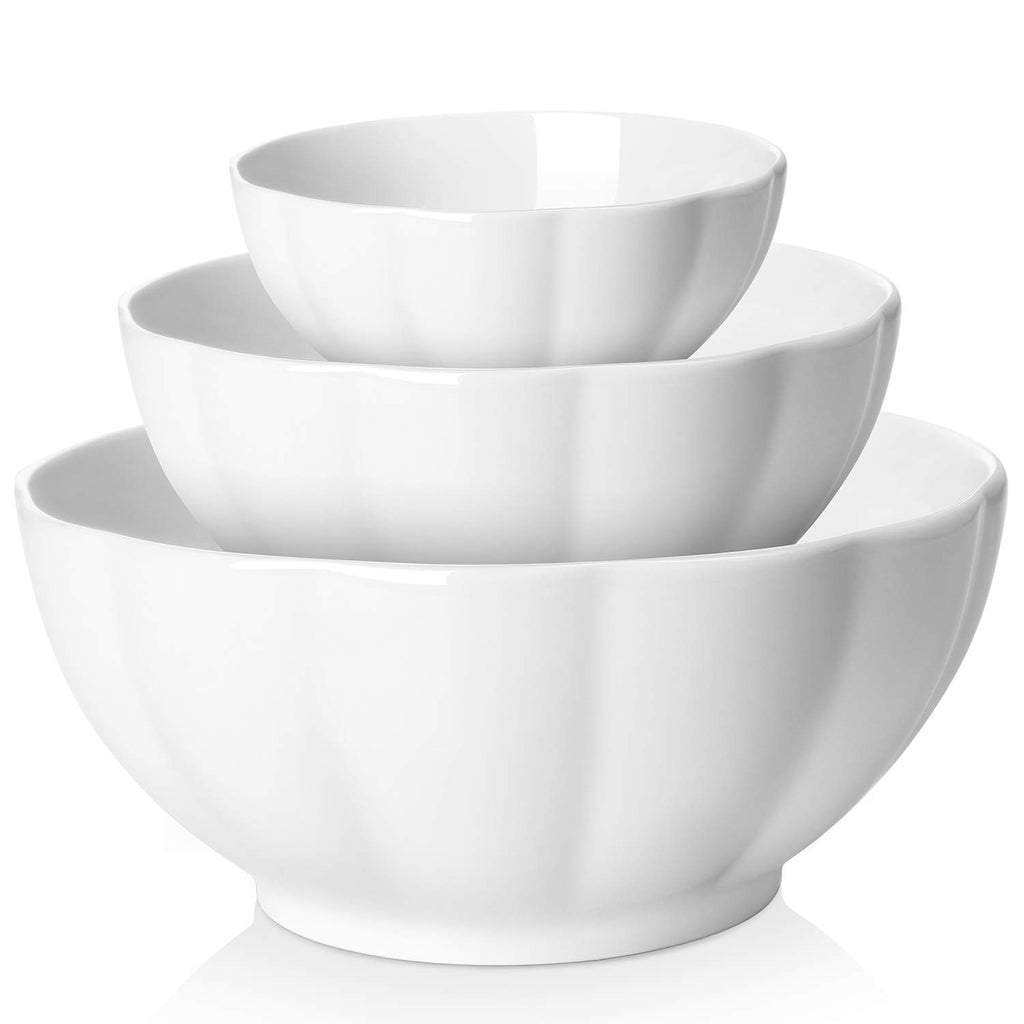 DOWAN Porcelain Mixing Bowl Set