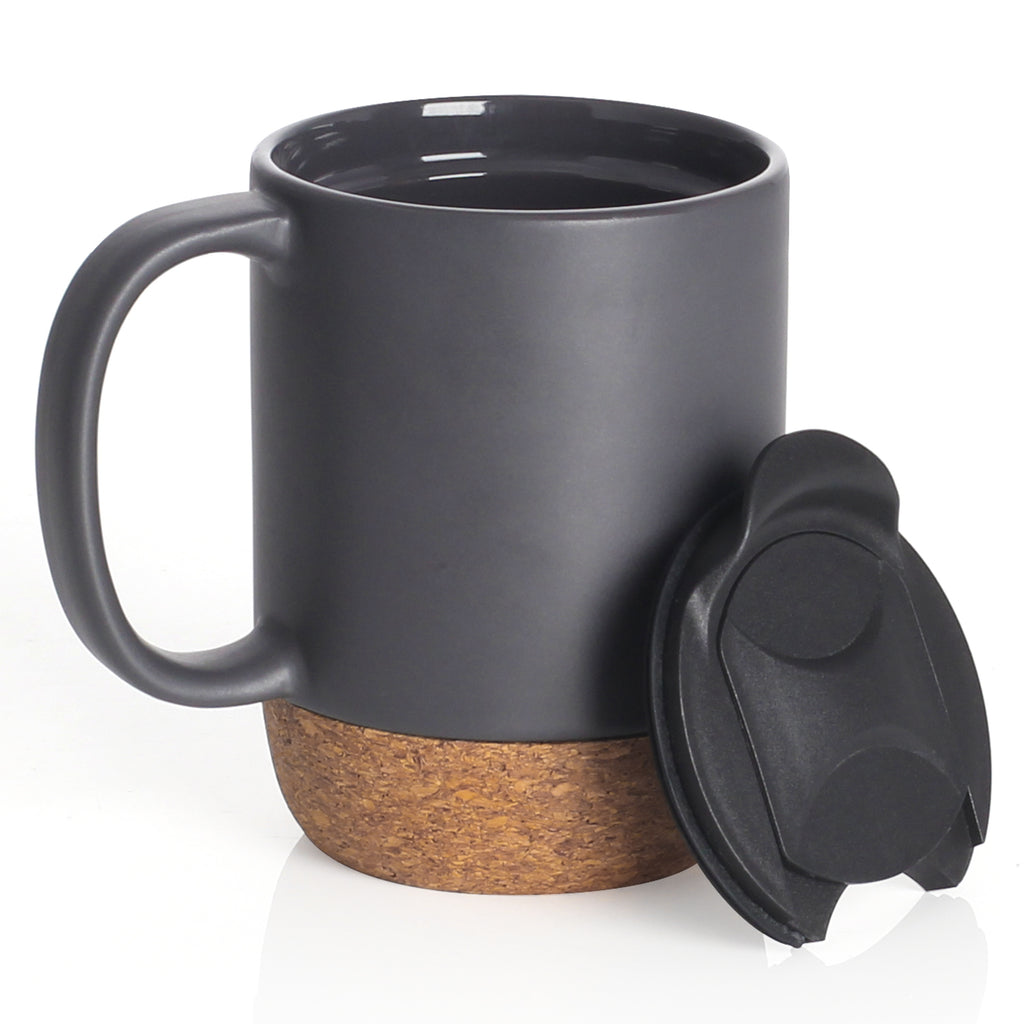 ceramic mug with insulated cork