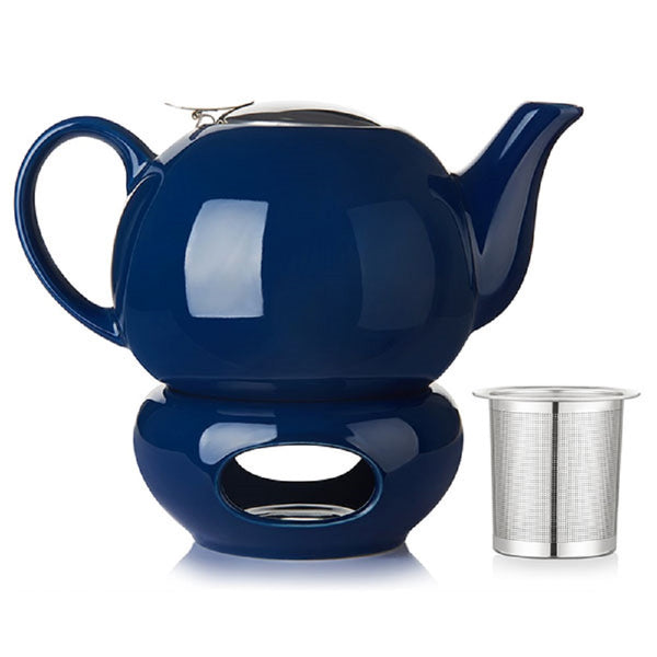 DOWAN® 44oz Navy Blue Teapot with Lid