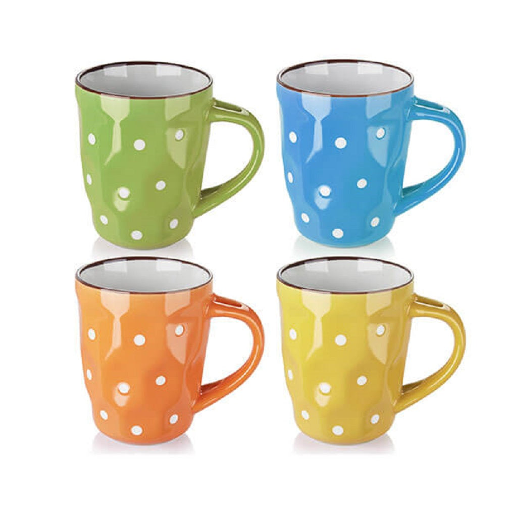DOWAN® 13 oz Polka Dot Mugs size view