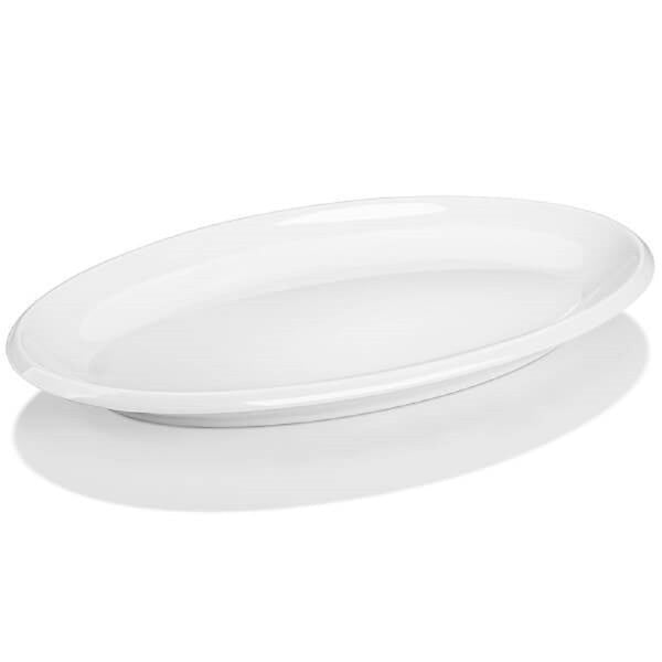 Stackable Porcelain Oval Serving Plates