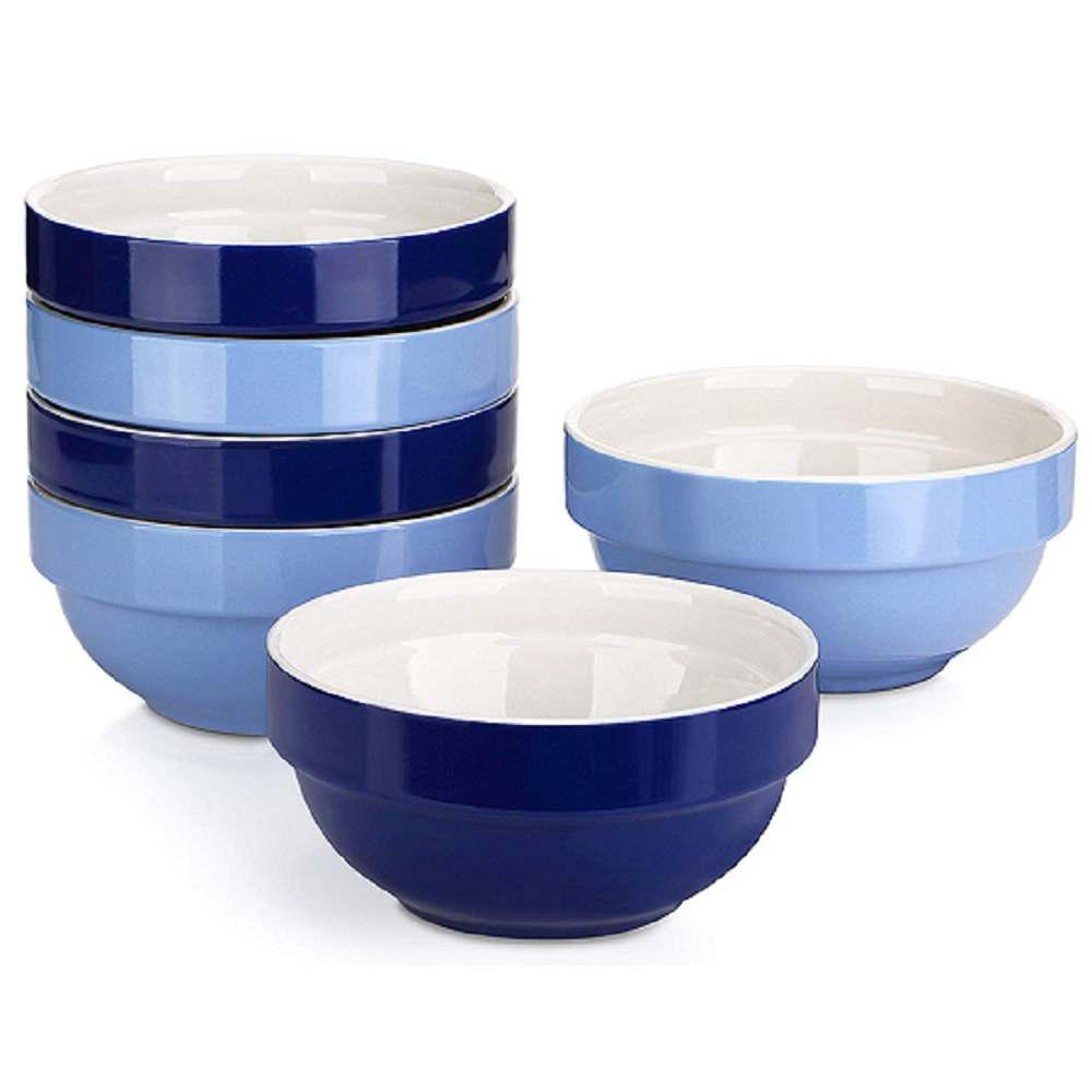 DOWAN® 16 Ounce Bowls for Cereal/Dessert, Set of 6