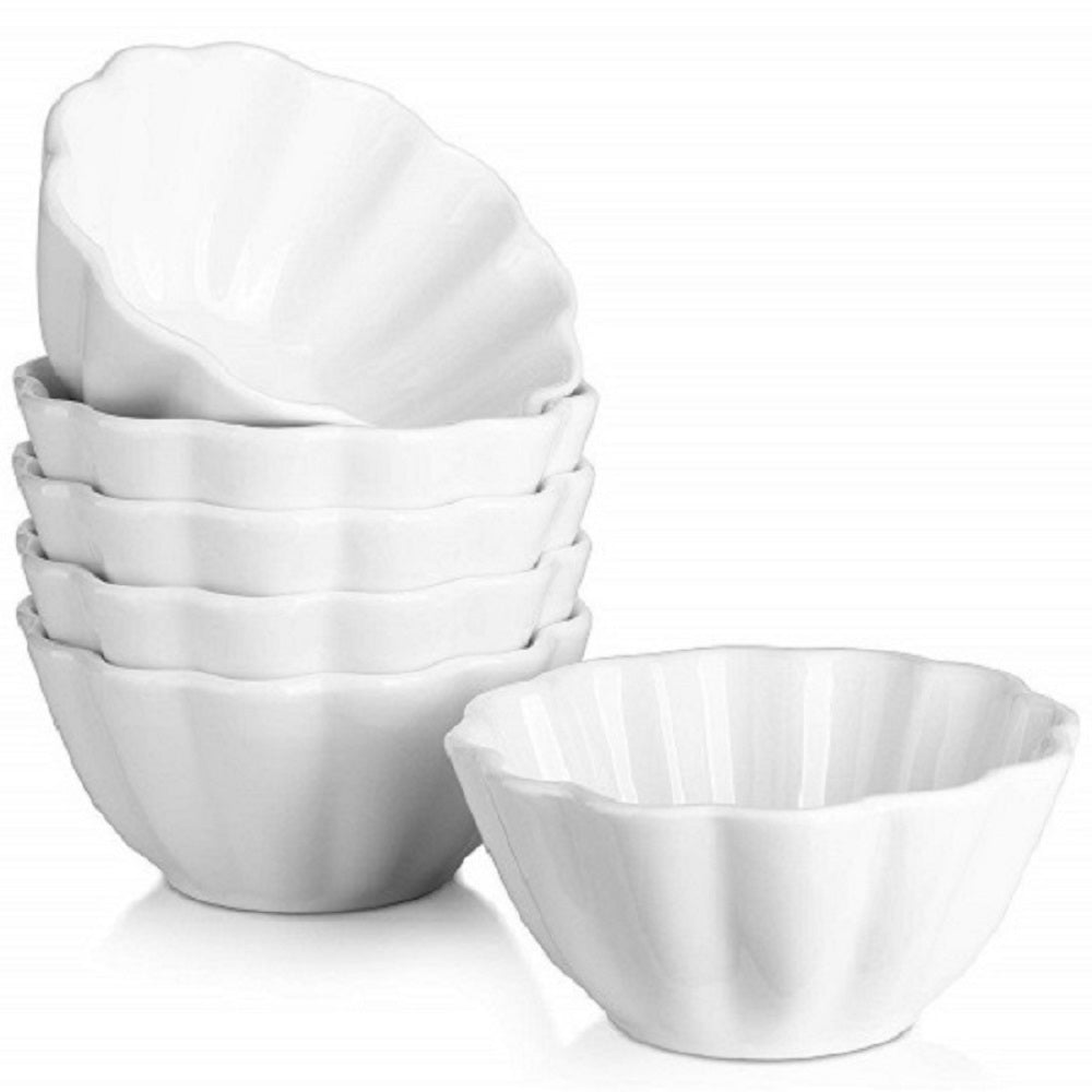 DOWAN® 4 oz Porcelain Ramekins, Set of 6, White