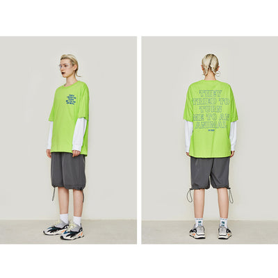 Fluorescent Letters Tee