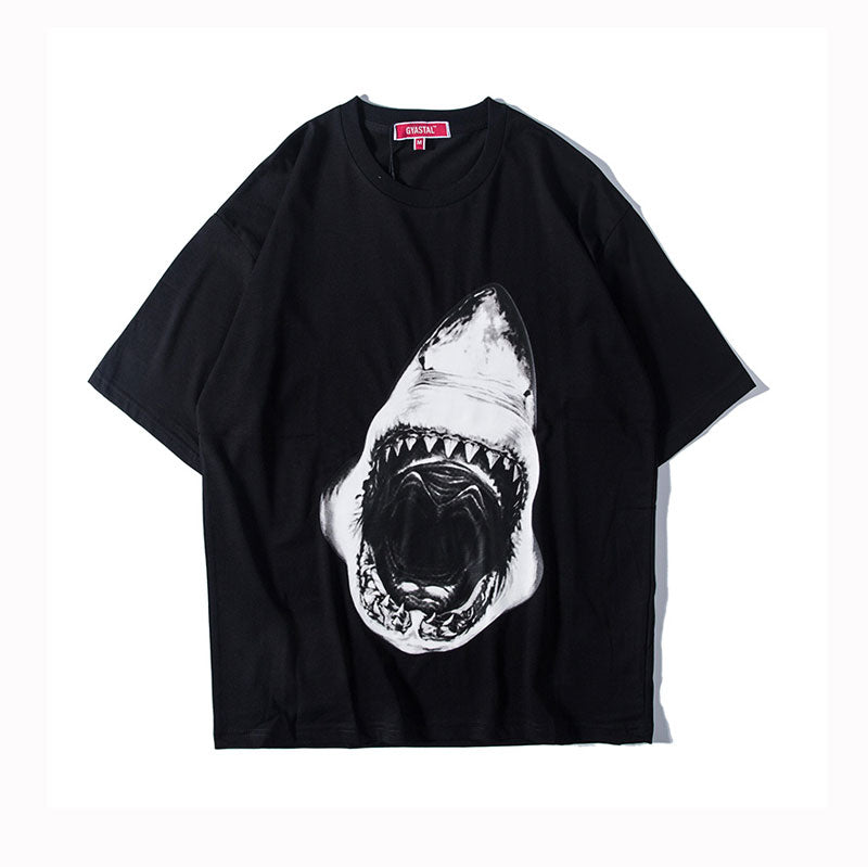Shark Half-sleeved T-shirt
