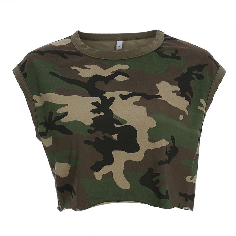 Camouflage Sleeveless Tank Top