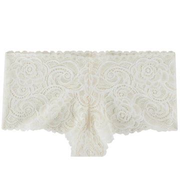 Hipster - Ivory geometric lace-Hipsters-Au Corset Chic Lingerie